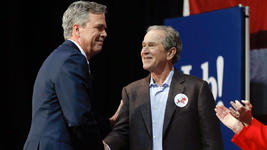 George W. Bush Campaigns for Brother Jeb